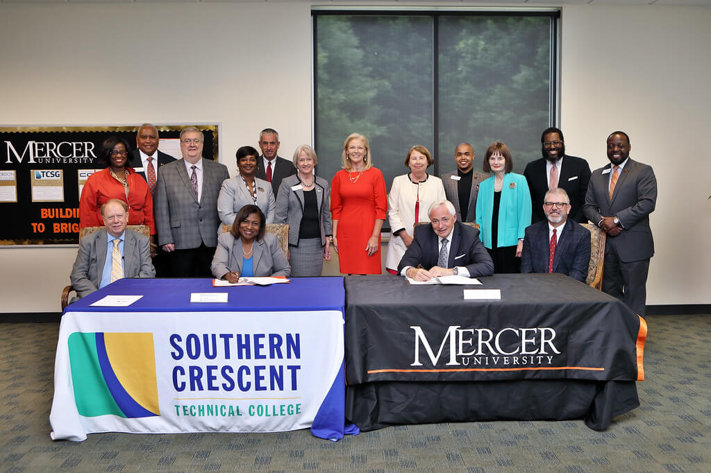 Mercer University, Southern Crescent Technical College  Sign New Transfer Articulation Agreement