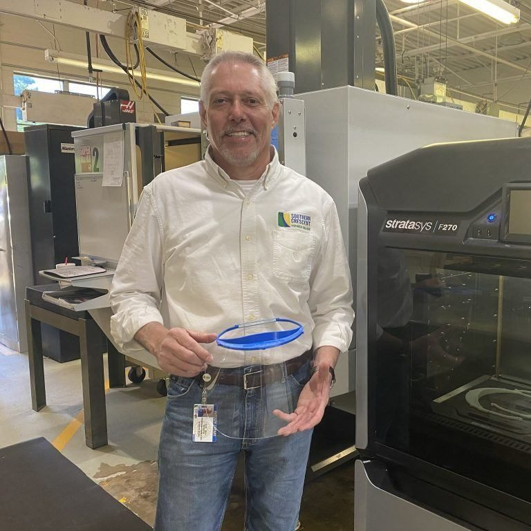 SCTC Instructor Creates PPE for Use During Pandemic